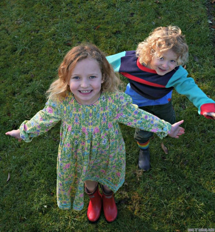 Here Florence is wearing the Floal Smock dress (£15-£17) which is fully lined. I love this style and every year they have a new one with a different pattern - I think it's her favourite too!