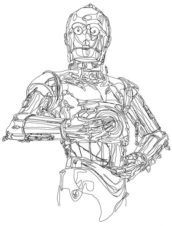 Cotidiano do Lourival: Desenhos de Star Wars em linha