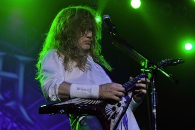 Dave Mustaine en el show de Megadeth en Chile 2010 | Fotógrafo: Javier Valenzuela
