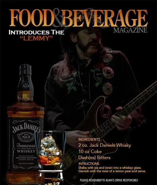 El trago preferido de Lemmy llevará su nombre