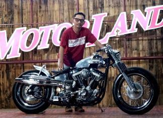 Motor HD Softail milik Alit meraih Best of the Best Suryanation Motorland Denpasar 2017