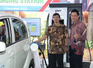 fasilitas pengisian mobil listrik