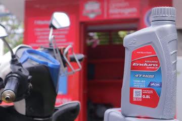 Pelumas pertamina enduro 4t 0,8 liter