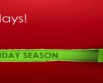 Healthy Holidays Survival! Starts – Monday 24th November – Friday 2nd January 2015