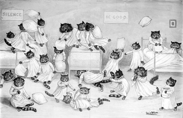 Louis Wain cats 1900