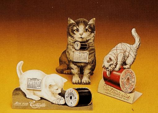 calendar Corticelli vechi în forma de pisici