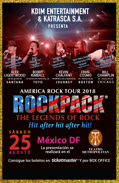 August 25, 2018 – ROCKPACK® in MEXICO D.F.