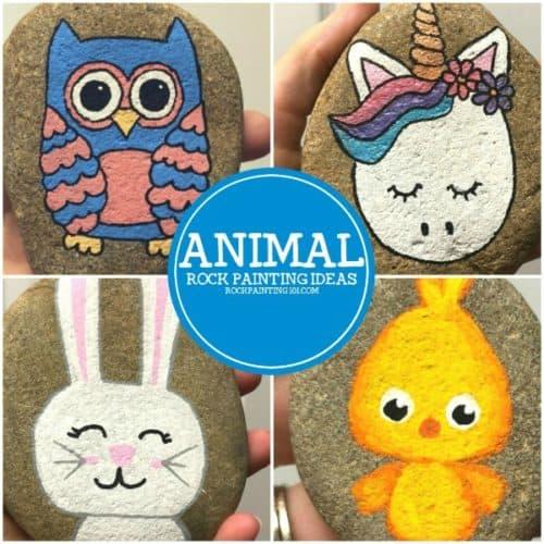 25 adorable animal rocks