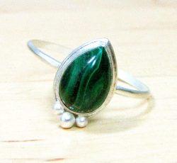 Malachite Drop Ring