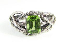 Peridot Handfast Branch Ring