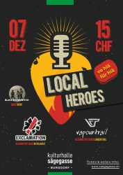 Local Heroes 07.Dezember 2019 mit EXCLAMATION,BLACK WATER WITCH, VAPOURTRAIL