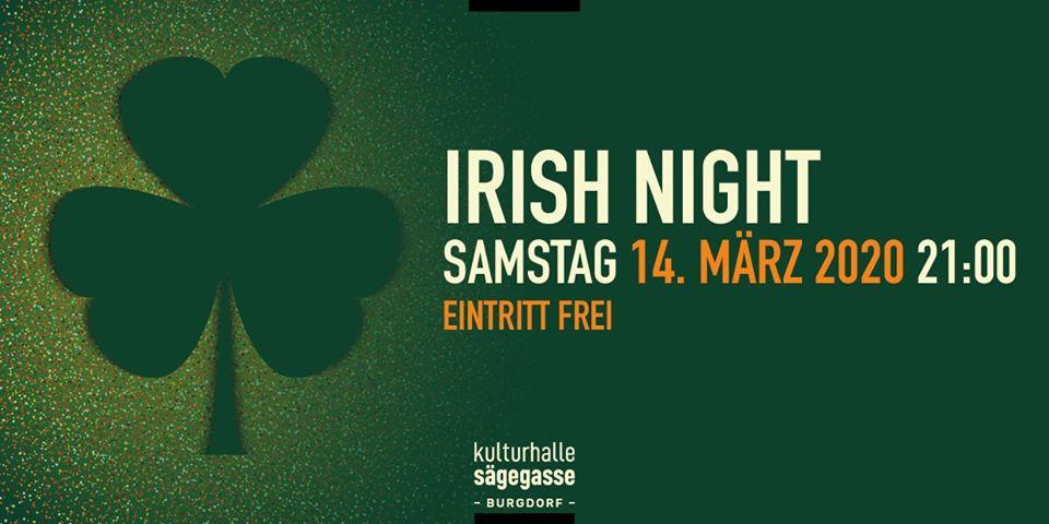 Irish Night 2020 Kulturhalle Sägegasse