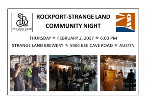 Rockport-Strange Land Austin Community Night, Thursday, 2/2, 6:00 PM