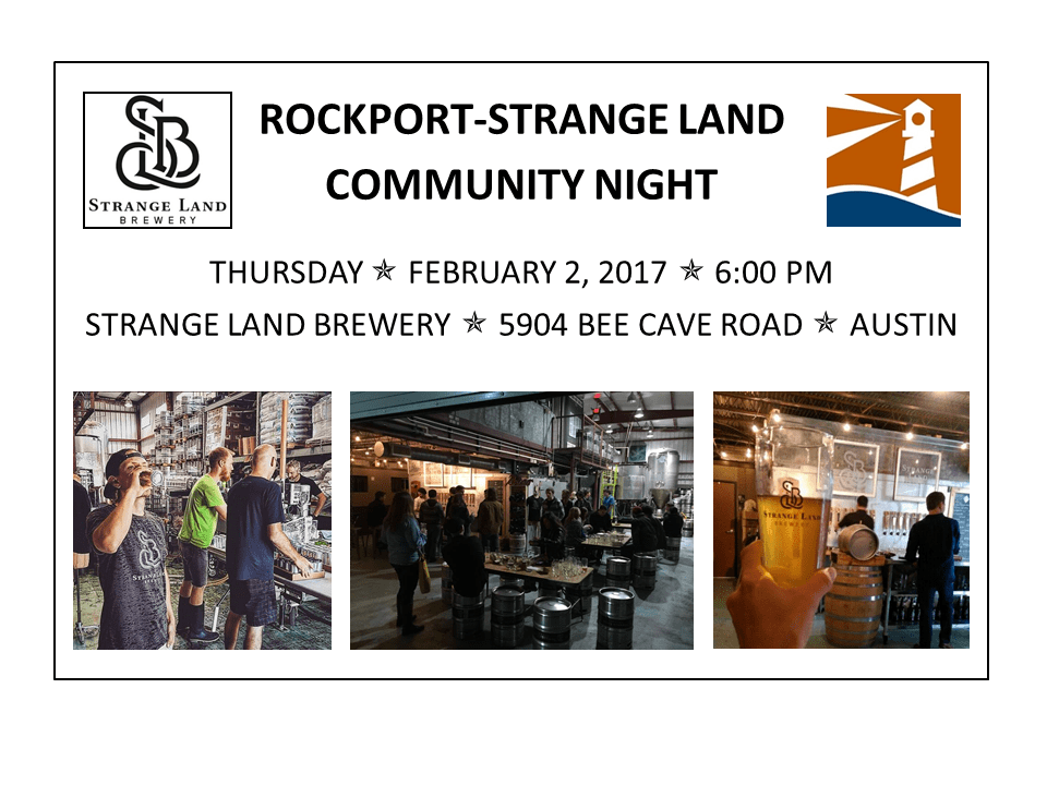 Rockport-Strange Land Austin Community Night, Thursday, 2/2, 6:00 PM
