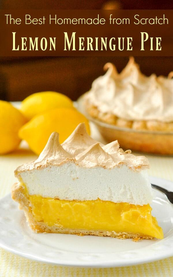 Jello Lemon Meringue Pie Recipe : jello, lemon, meringue, recipe, Homemade, Lemon, Meringue, Easy,, Fashioned, Scratch, Made!