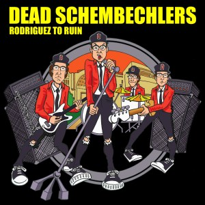 """Dead Schembechlers """"Rodriguez to Ruin"""" album cover. Art by Alan MacBain."""