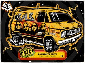 313 overdrive van sticker90