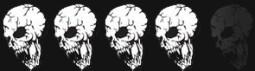 4 skulls skulls