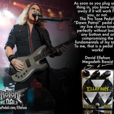 DAVID ELLEFSON AND PROTONE PEDALS CREATE DAWN PATROL CHORUS