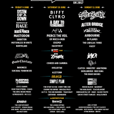 FESTIVAL ANNOUNCEMENT:  DOWNLOAD FESTIVAL U.K. – 2017