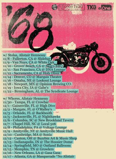 Upcoming '68 fall tour dates