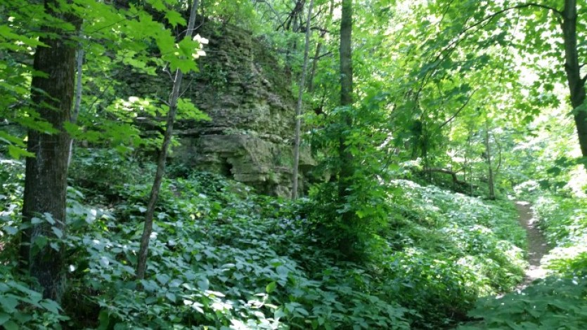 Devils Staircase Rock River Trail Ice Age Trail Janesville Wisconsin (2)