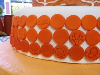 Orange Ombre Wedding Cake  Tier