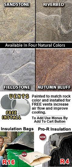 Dekorra 110 Fake Rock Backflow Cover