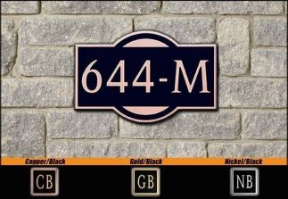 Dekorra Model 644 Personalized Address Plaque