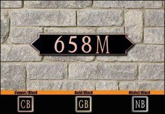Dekorra Model 658H Personalized Address Plaque