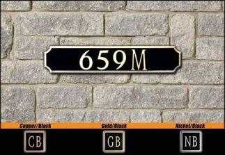 Dekorra Model 659 Personalized Address Plaque