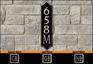 Dekorra Model 658V Personalized Address Plaque