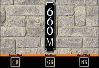 Dekorra Model 660V Personalized Address Plaque
