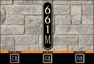Dekorra Model 661V Personalized Address Plaque