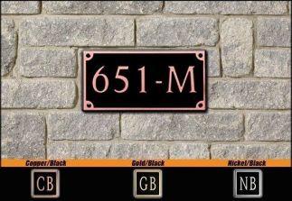 Dekorra Model 651 Personalized Address Plaque