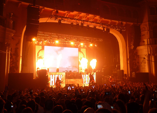 Rob Zombie on stage at Brixton Academy