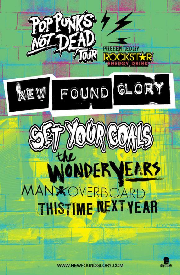 pop punks not dead tour poster