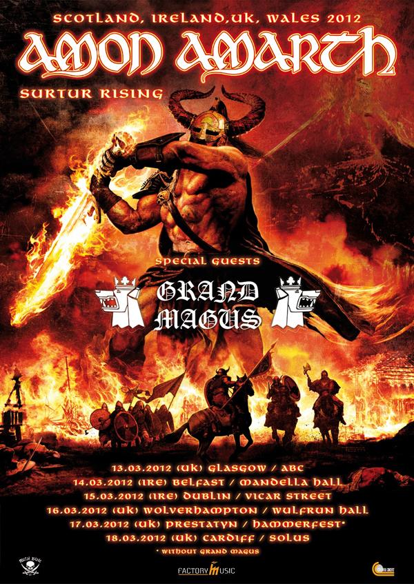 Amon Amarth 2012 UK Tour Poster