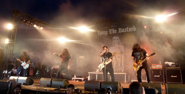 Hang The Bastard on stage in the Pepsi Max Tent at Download 2013