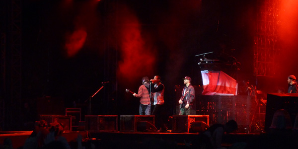 Linkin Park performing Hybrid Theory in it's entirety at the 2014 Download Festival in England.