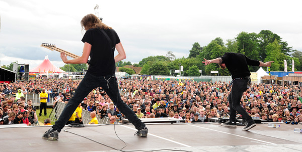 TesseracT performing at Sonisphere Knebworth 2014 on the Apollo Stage