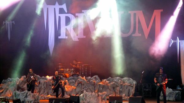 Trivium performing at Download Festival 2014