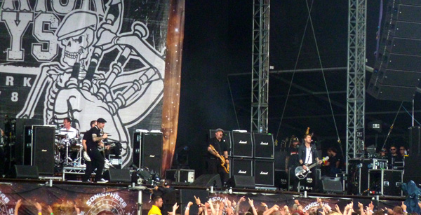 Dropkick Murphys performing at Sonisphere Knebworth 2014