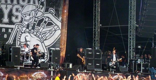 Dropkick Murphys performing at Sonisphere Knebworth 2014