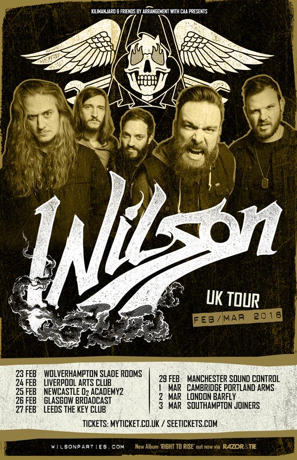 Wilson UK Tour Poster Feb Mar 2016