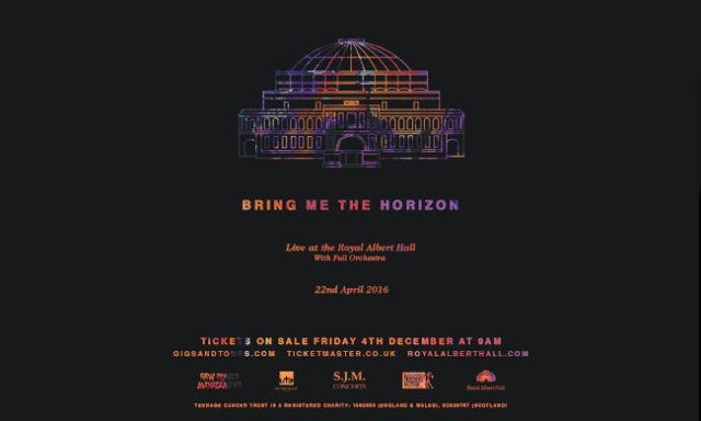 Bring Me The Horizon at the Royal Albert Hall 2016 Poster