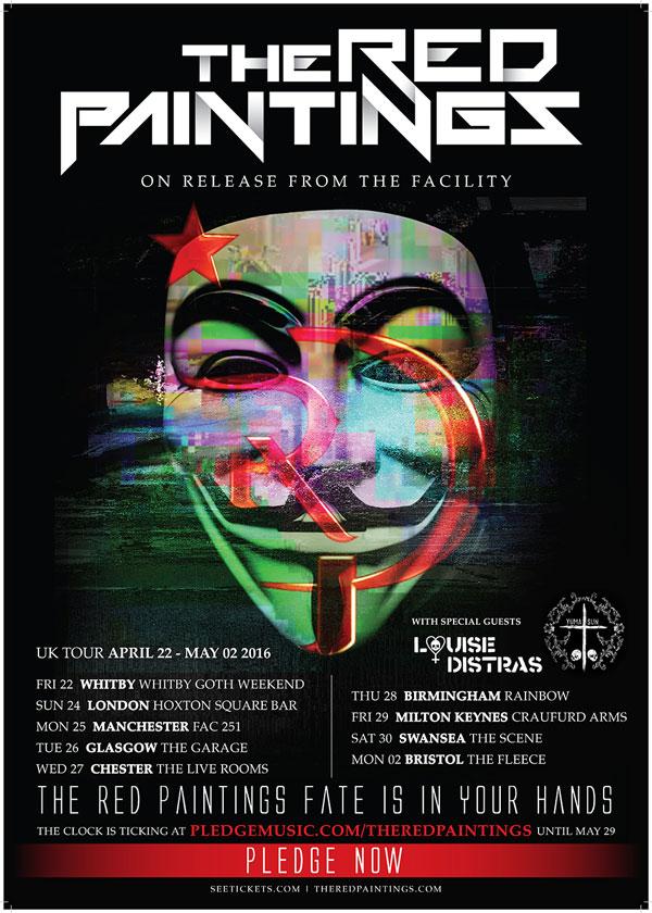 The Red Paintings Yuma Sun April 2016 UK Tour Poster