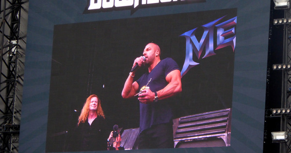 Download 2016 Triple H receives the Spirit of Lemmy Golden God award from Dave Mustaine