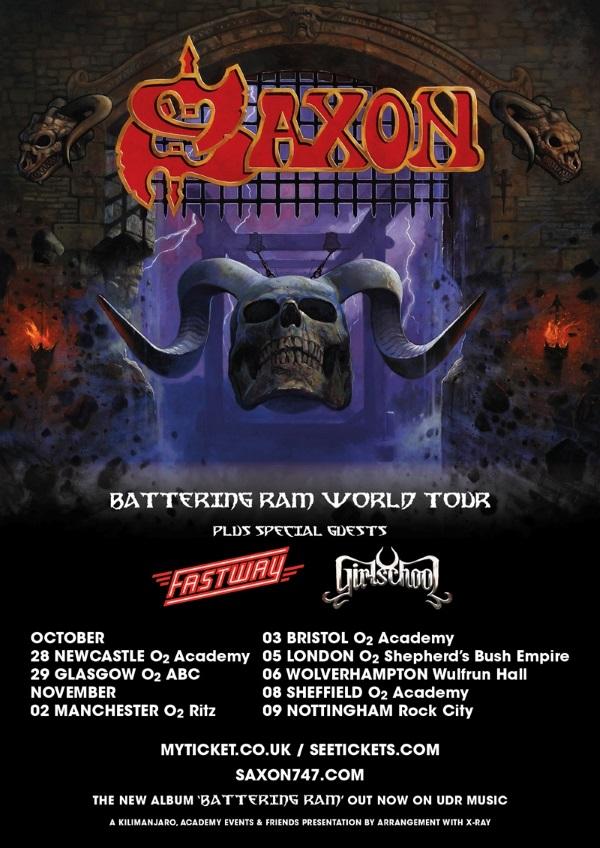 Saxon Autumn 2016 UK Tour Poster