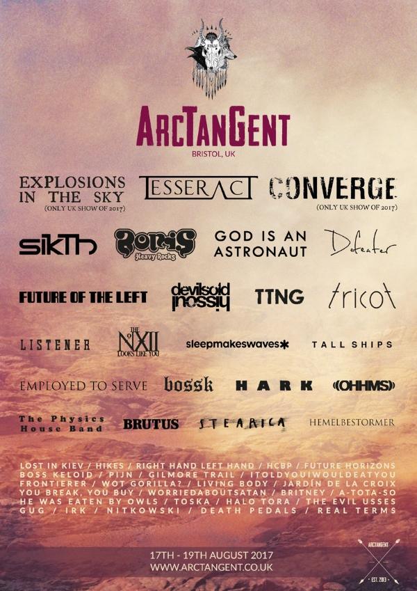 ArcTanGent Festival 2017 Third Poster